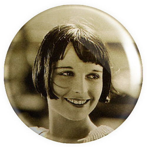 Louise Brooks Brookes BUTTON PIN BADGE 25mm 1 INCH 20s Movie Actress Film Star