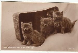 Postcard-CATS-WILL-YOU-COME-AND-PLAY-WITH-US-Ref-A10