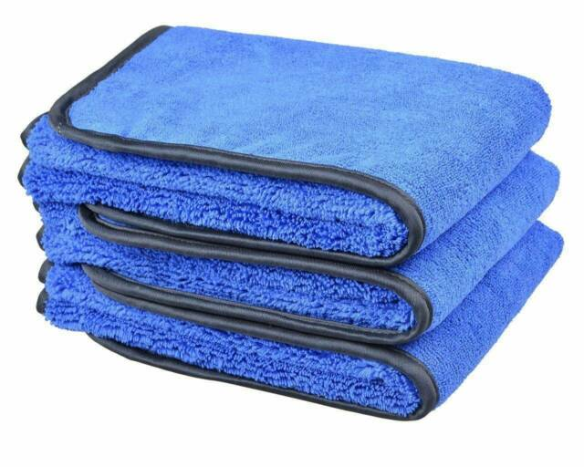 800GSM 3X Microfibre Drying Towel Cleaning Detailing Kitchen Cleaning Cloths Wax