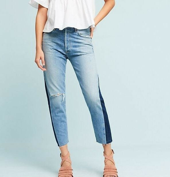 ANTHROPOLOGIE Citizens of Humanity Liya Ultra High Rise Side Seam Jeans NwT