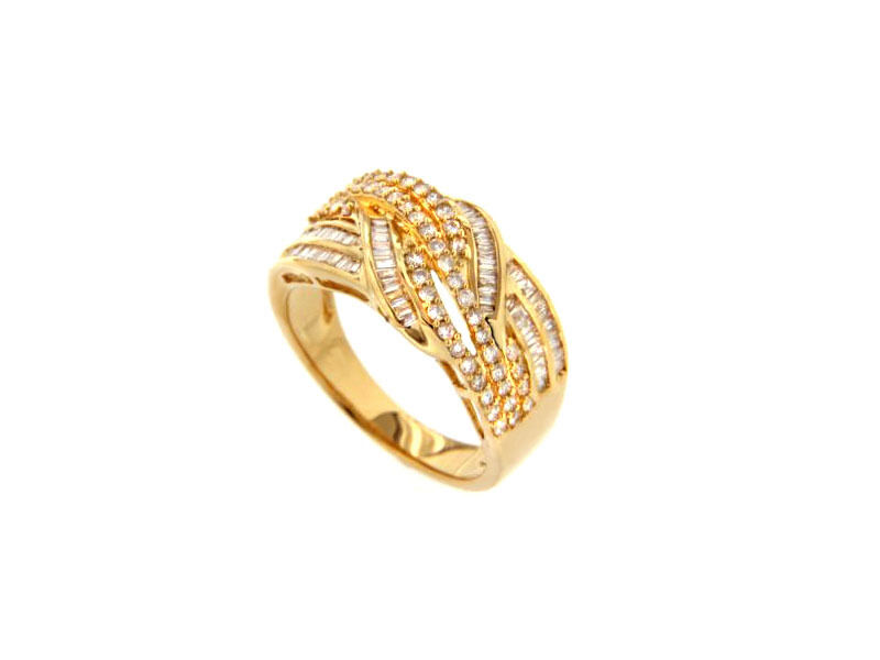 Ring Diamant Brillant 18 Karat 750er yellowgold 1,18 Karat Wesselton white Neu