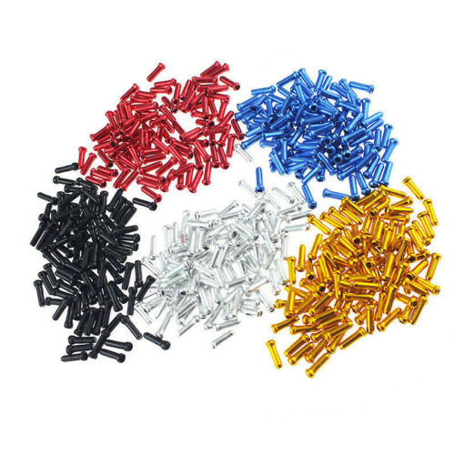 100x Aluminum Bicycle Bike Brake Shifter Inner Cable Tips Wire End Cap Crimps
