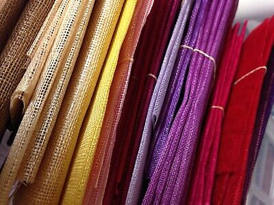 Sheet Sinamay Fabric for Millinery Supplies Trim Hat Fascinator Making Large 90c