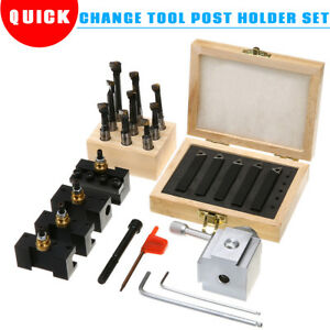 Mini-Quick-Change-Tool-Post-Holder-Set-3-8-039-039-Boring-Bar-5x-Indexable-3-8-039-039