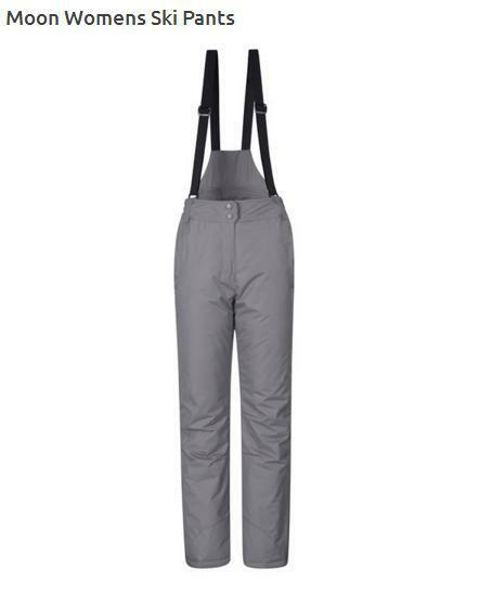 NEW Womens Mountain Warehouse Ski Trousers Salopettes 10 Light Grey RRP .99