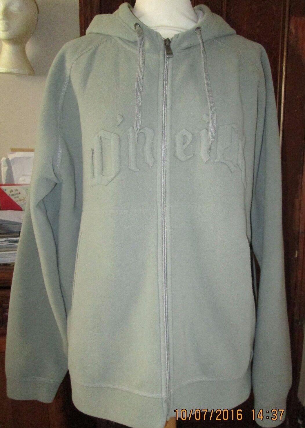 Men's L-utilisé Vintage Unique O 'Neill à capuche gris Veste-Taille L-utilisé Men's 640187