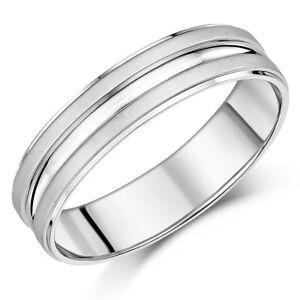 ccc4d05d69271 Details about Palladium Ring 950 Matt & Polished Wedding 6mm Band