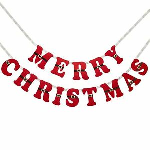 Frohe Weihnachten Girlande.Details Zu Merry Christmas Dear Santa Party Hanging Decoration Garland Banner Felt Bunting