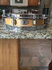 Pearl M1330 Maple Piccolo Snare Drum Natural Finish 13x3 Used