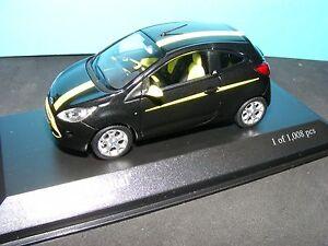 Ford Ka Digital En Jaune Lumineux / Noir Métallisé 2009 1: 43e.   Modèle Minichamp 4012138092600