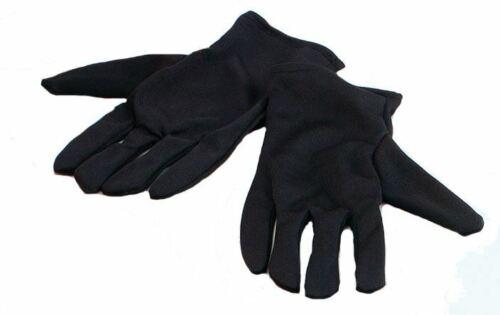 Gents Black Satin Ripper Gloves Halloween Doctor Jeckle Gloves