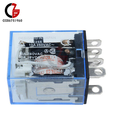1PCS LY2NJ J LY2N LY2 AC 200V//220V 8PIN 10A 240VAC 28VDC Power Relay Coil NEW