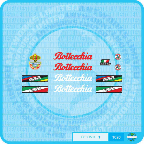 Stickers Set 1 Bottecchia Bicycle Decals Transfers