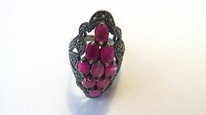 THAILAND-TRADITION-THAI-RUBY-Stones-RING-SIZE-7