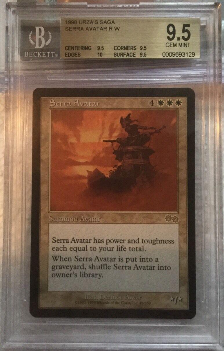 Serra Avatar-BGS 9.5 Gema menta-Urza's Saga-Magic El Encuentro-Vintage Legacy-Quad