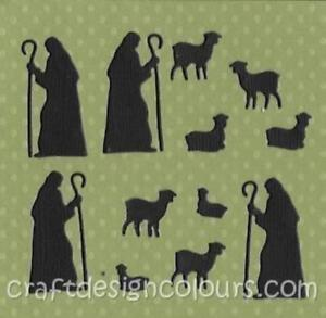 DIE-CUT-2-X-SETS-OF-SHEPHERDS-AND-SHEEP