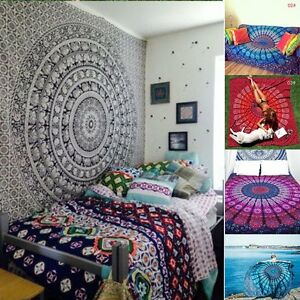 Twin-Indian-Wall-Hanging-Hippie-Mandala-Tapestry-Bedspread-Bohemian-Ethnic-Throw