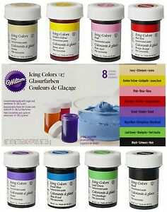 Wilton-Icing-Color-Lebensmittelfarbe-8-x-28g-im-Set-Gelfarben-Paste-fuer-Fondant