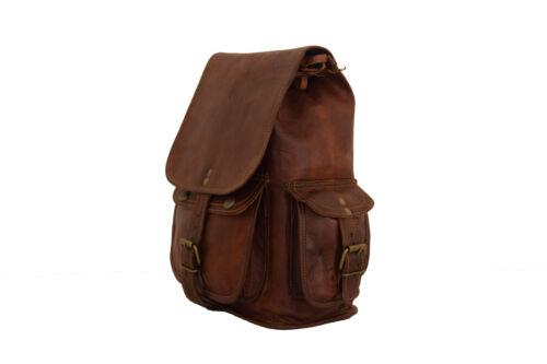 "Vintage Leather Backpack Bag Women Teen Girls Rucksack Travel Handbag Small 12/"""