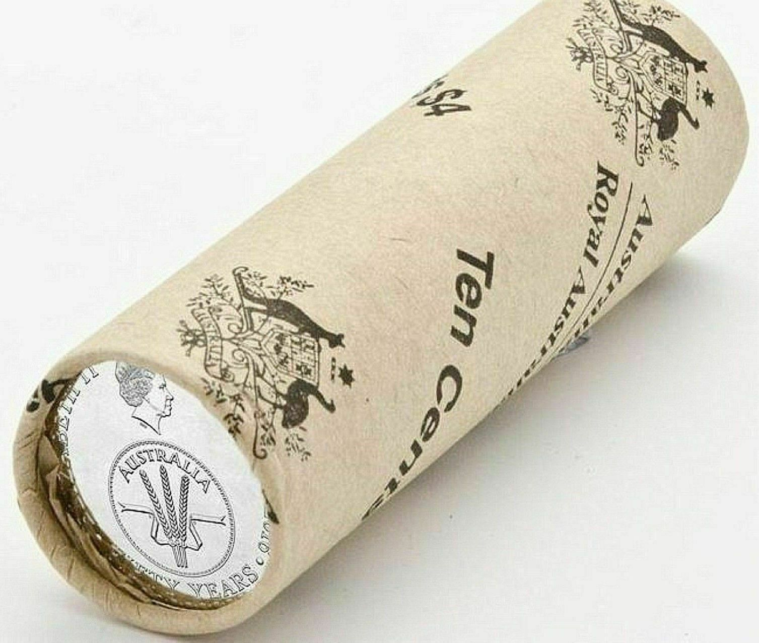 10 Cents RAM Mint Coin Roll Australia 2016 Changeover of Decimal Currency