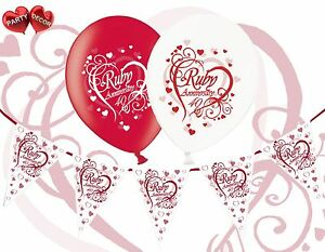 Bundle-40th-Ruby-Anniversary-Mix-Balloons-Pack-of-12-Theme-Bunting-Banner-12ft