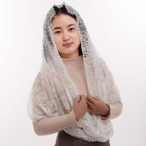 Women Chapel Veil Lace Mantilla Catholic Head Covering Latin Mass