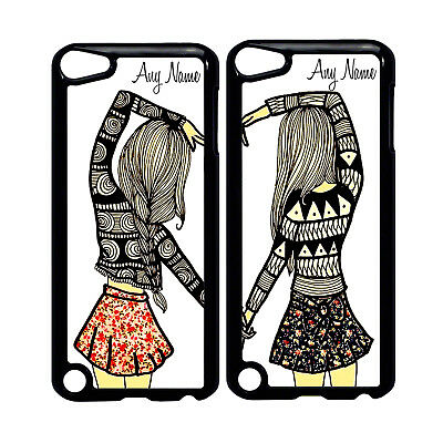 Best Friend Couple Phone Case Cover Fits Iphone Ipod With Any Name 2 Cases Ebay