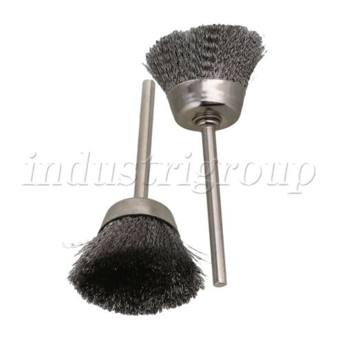 """Silver Bowl Shape 25MM diameter Wire Brush Drill End 1//8/"""" shank Pack of 5"""