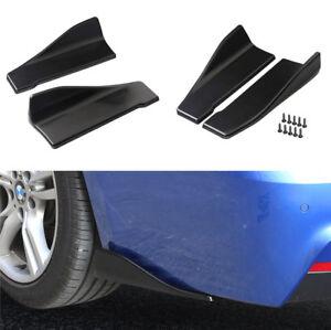 2x-Car-Hecklippe-Stossfaenger-Seitenschweller-Spoiler-Splitter-Diffusor-Anti-Crash