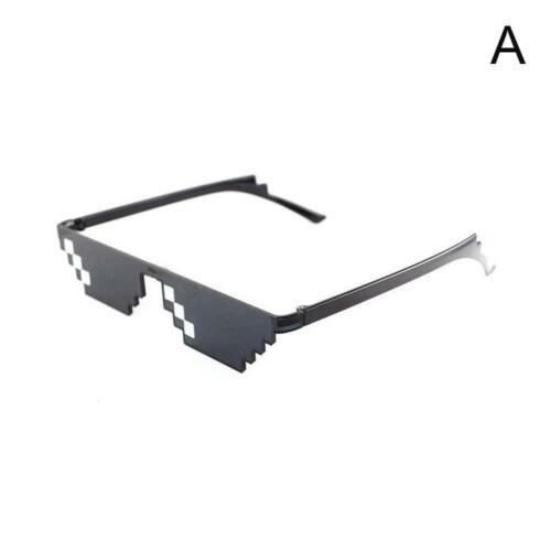 Unisex Thug Life Glasses 8 Bit Pixel Deal With IT Sunglasses Brille Sonnenb Spaß