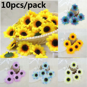 Wedding-Decoration-Artificial-Flower-Gerbera-Silk-Sunflower-Heads-Fake-Flores
