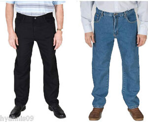 Carabou-Tall-Mens-Jeans-Straight-Regular-Fit-Tough-Casual-Jeans-W-32-to-W-48-L36