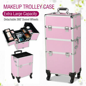 Professional 3 in 1 Makeup Beauty Case Cosmetics Technician Folding Trolley 6bca75b0716a6
