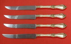 Furniture Royal Rose By Wallace Sterling Silver Steak Knife Set 4pc Texas Sized Custom
