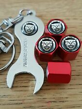 JAGUAR GROWLER Wheel Valve Dust caps Spanner/Keychain RED retail packed