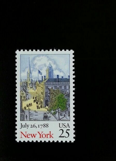 1988 25c New York, Constitution Bicentennial Scott 2346