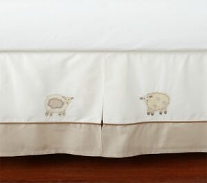 Details About Pottery Barn Kids Sweet Lambie Lamb Baby Crib Bed Skirt