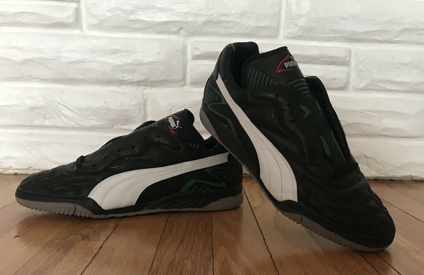 Vintage Puma Mens Torceira ? Indoor Soccer Shoes Black Size 11.5 New Deadstock