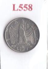 L558 Moneta Coin ITALIA Regno d'Italia 1 Lira Impero 1942 XX
