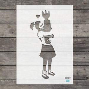 Banksy Bomb Hugger Airbrush Painting Wall Art Stencil