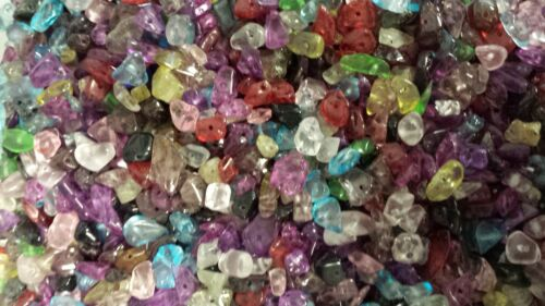 50g Mixed Glass Chip Beads approx. 200 Beads - A4847