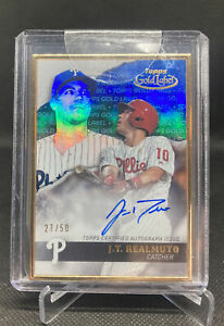 2020 Topps Gold Label Framed Autograph JT Realmuto GLA-JRE Auto SSP #d /50