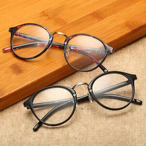 Image is loading Vintage-Mens-Womens-Retro-Round-Eyeglasses-Frame-Glasses- 705dbd1473f6