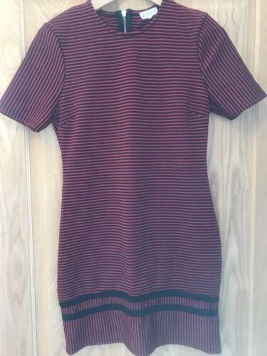 Girocollo S2 Zip 10 Dress Taglia Stripe Claudie Rosso nero Womens Pierlot completa WAZTqHYU