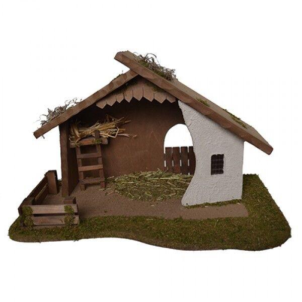 Krippe, Krippenstall, Stall bis 12cm Figuren, Alfrot Kolbe 1387 12 12 12 aus Bayern eacf49