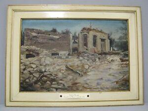 Peinture Bataille De La Marne Du 6 Sept 1914 Heiltz Le Maurupt Guerre 14 18 Ebay