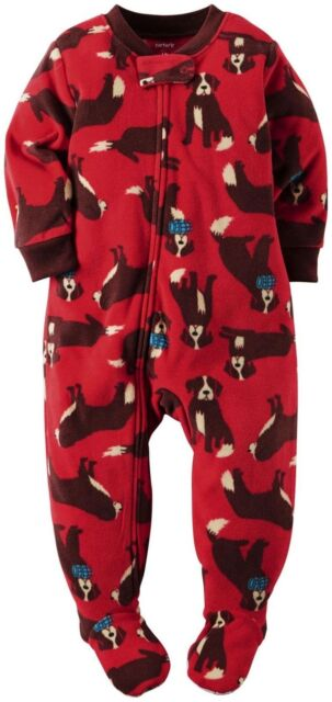 5d29f35b7f2b Carter s Saint Bernard Fleece Blanket Sleeper Footed Pajamas Size 6 ...
