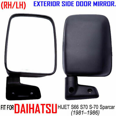 DAIHATSU HIJET SPARCAR S 65 66 76 FOR BLACK SIDE DOOR MIRROR RH//LH SQUARE MANUAL