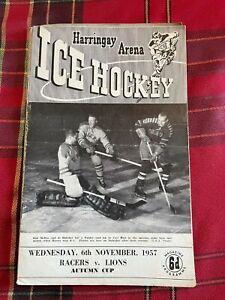 Harringay Arena Ice Hockey Programme 06/11/1957