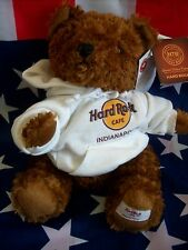 HRC Hard Rock Cafe Indianapolis Sweater Hoodie Bear 2010 LE Made by Herrington